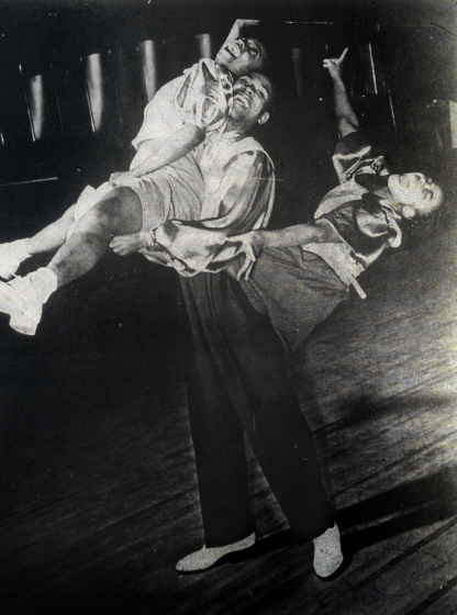 The Horse, as danced by Norma Miller, William Downes and Joyce James (front to back), courtesy Norma Miller