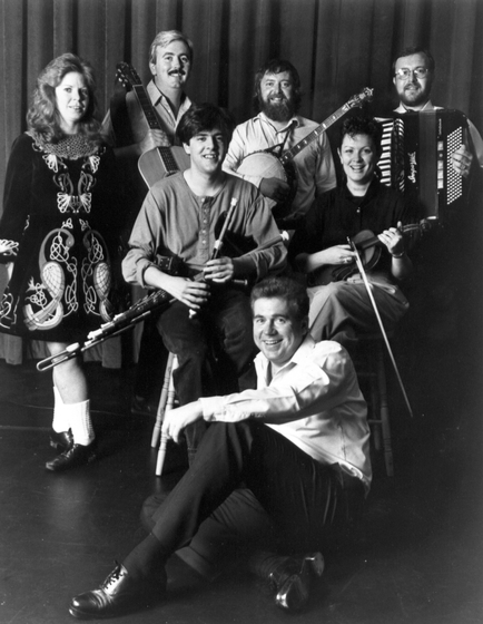 The Green Fields of America, including Mick Moloney (standing, second from right) and Donny Golden (sitting on the floor), courtesy Green Linnet Records and Folklife Center, International House of Philadelphia