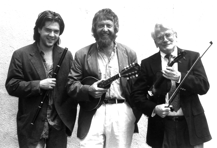 From left: Seamus Egan, Mick Moloney and Eugene O'Donnell, courtesy Green Linnet Records and Folklife Center, International House of Philadelphia