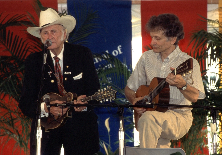 Bill Monroe and Mike Seeger, 1994 Festival of American Folklife, courtesy Ralph Rinzler Folklife Archives and Collections, Center for Folklife and Cultural Heritage, Smithsonian Institution