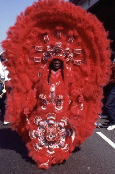 Allison 'Tootie' Montana, Mardi Gras, New Orleans, Louisiana, Photograph by Michael P. Smith