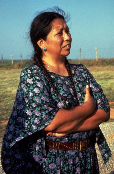 Vanessa Paukeigope Morgan, Fort Cobb, Oklahoma, 1994, photograph by Georgetta Stonefish, courtesy Fred Nahwooksy