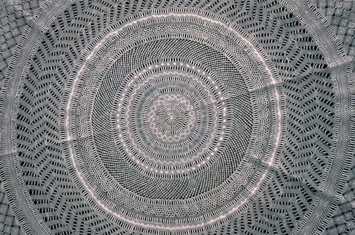 Bobbin lace doily (detail) by Genevieve Mougin, courtesy National Endowment for the Arts