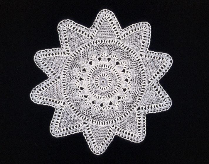 Bobbin lace by Genevieve Mougin, courtesy National Endowment for the Arts