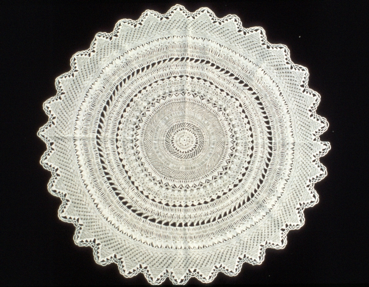 Bobbin lace doily by Genevieve Mougin, courtesy National Endowment for the Arts