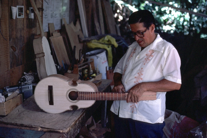 Julio Negrón-Rivera in his shop. Photograph by Walter Murray Chiesa, Morovis, Puerto Rico, courtesy National Endowment for the Arts