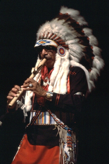 Doc Tate Nevaquaya, 1986 National Heritage Fellowship Concert, Courtesy National Endowment for the Arts
