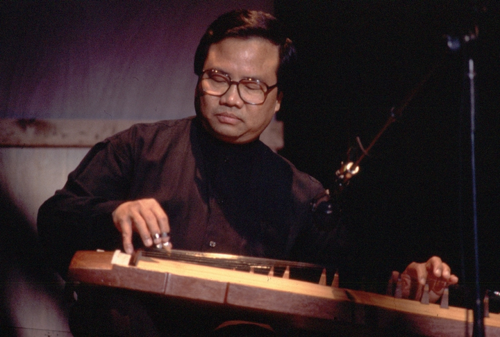 Phong Nguyen playing the Vietnamese *dan tranh* zither, 1997 National Fellowship Ceremonies, courtesy National Endowment for the Arts