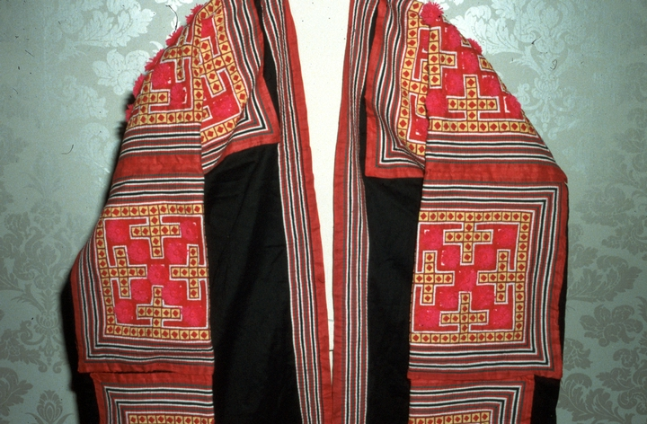Traditional Hmong garments (detail) by Yang Fang Nhu, photograph by Winifred Lambrecht, Courtesy Rhode Island State Council on the Arts