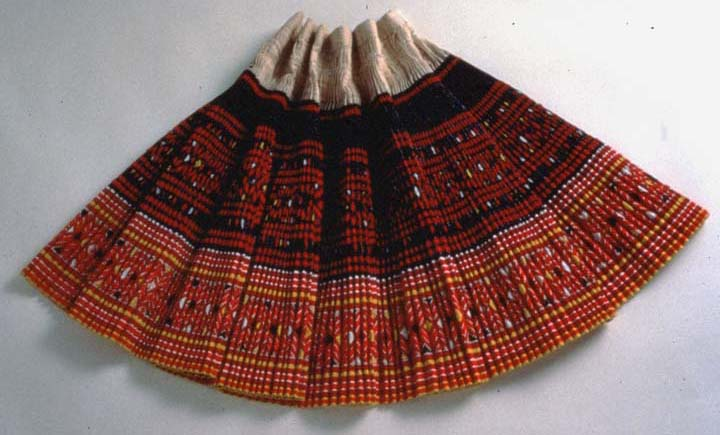 "Hmong skirt by Yang Fang Nhu, batik embroidery and appliqué on cotton, 25"" x 43"", Detroit, Michigan, courtesy Museum of International Folk Art (a unit of the Museum of New Mexico)"