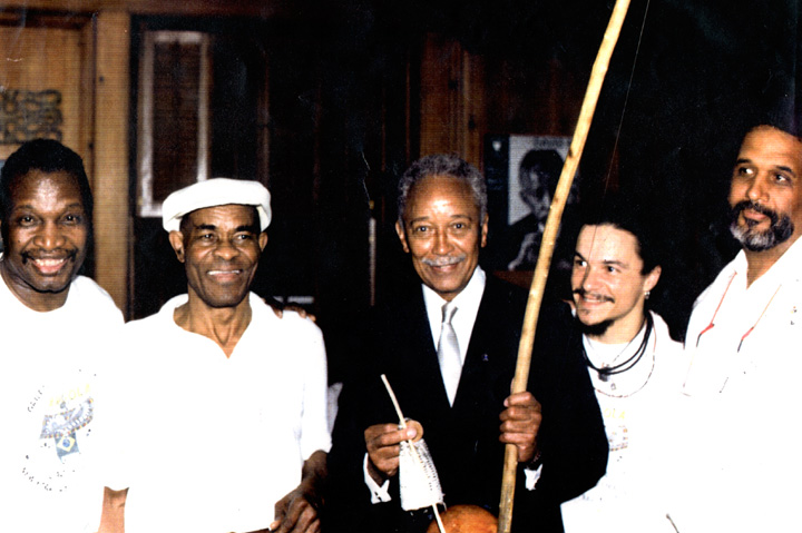 João Oliveira dos Santos (Mestre João Grande) with part of his *Capoeira Angola* troupe, courtesy National Endowment for the Arts