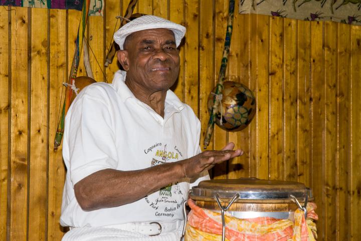 João Oliveira dos Santos (Mestre João Grande), 2008, photograph by Alan Govenar