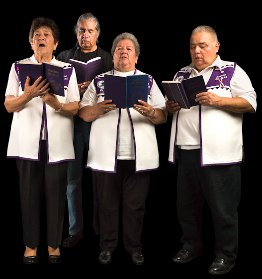 The Oneida Hymn Singers of Wisconsin have maintained their beautiful a cappella tradition since the early twentieth century. The informal group, ranging from teens to octogenarians, sings at funerals, tribal ceremonies and social events. Bethesda, Maryland, 2008, photograph by Alan Govenar