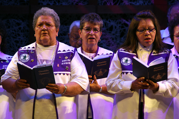 Oneida Hymn Singers of Wisconsin, 2008 National Heritage Fellowship Concert, Bethesda, Maryland, photograph by Michael G. Stewart