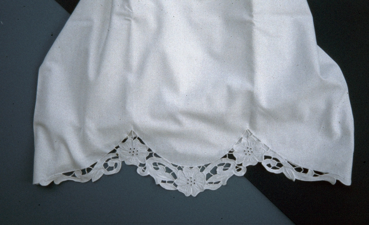Pillowcase with hardanger needlework by Nadjeschda Overgaard, photograph by Steve Ohrn, courtesy National Endowment for the Arts