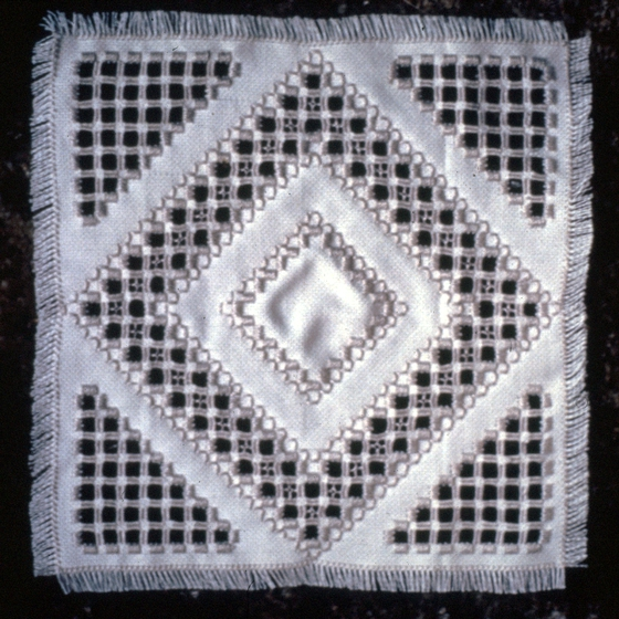 Hardanger needlework by Nadjeschda Overgaard, photograph by Steve Ohrn, courtesy National Endowment for the Arts