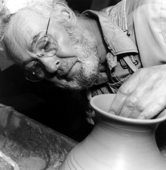 Potter Vernon Owens of Seagrove, North Carolina, has maintained the area's salt-glazed stoneware tradition while developing safer materials and using refined marketing strategies. Photograph by C.N. Chatterley, courtesy of the North Carolina Arts Council Folklife Program