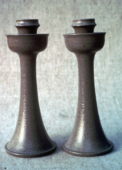 Candlesticks by Vernon Owens, courtesy of the North Carolina Arts Council Folklife Program