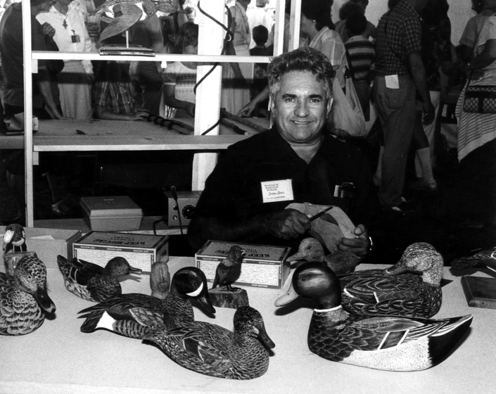 Irván Pérez with some of his carved ducks, courtesy National Endowment for the Arts