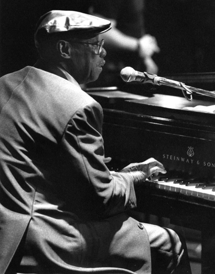 Joe Willie 'Pinetop' Perkins, World Music Institute Blues Festival, New York City 1989, photograph by Jack Vartoogian