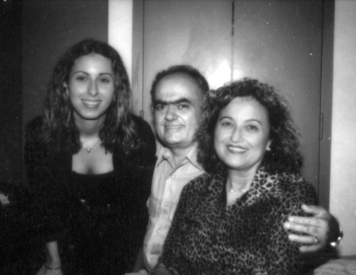 Konstantinos Pilarinos with his wife, Vasiliki (right) and daughter, Penny, Washington, D.C., 2000, photograph by Alan Govenar