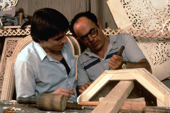 Konstantinos Pilarinos (right) instructs an apprentice in his workshop, Astoria, Queens, New York, courtesy National Endowment for the Arts