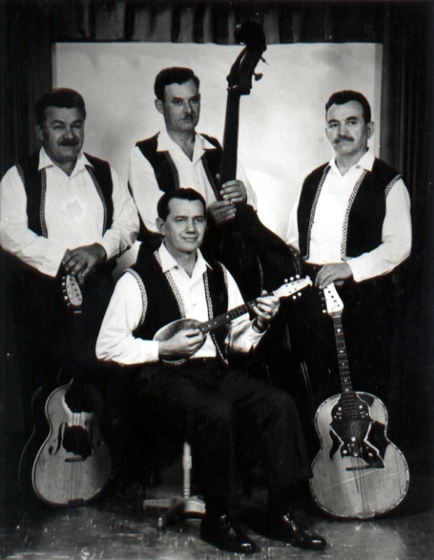 Popovich Brothers Tamburitza Orchestra, Chicago, Illinois, 1975, courtesy Adam Popovich