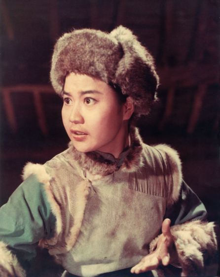 Qi Shu Fang as Chang Bao in *Taking Tiger Mountain*. 1972, courtesy Qi Shu Fang