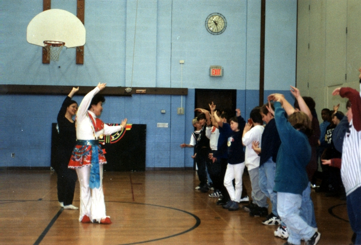 Qi Shu Fang demonstrating traditional movements used in Chinese opera performance, courtesy National Endowment for the Arts