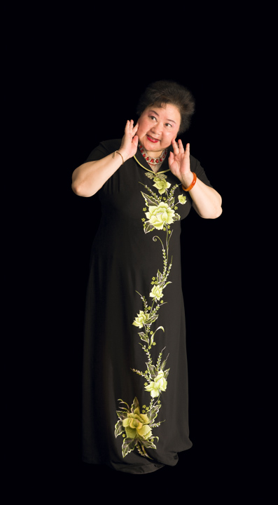 Qi Shu Fang was a popular Beijing opera performer in China before immigrating to the United States in 1988. Though she did not speak English on her arrival, she formed an opera company in New York City and is a leading actress and prominent *wu-dan*, woman warrior, performer. 2008, photograph by Alan Govenar