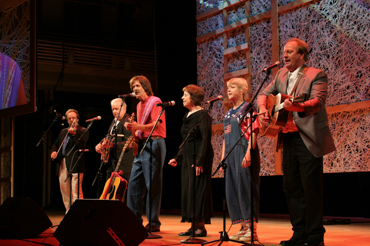 Tribute to Mary Jane Queen by friends and family members, 2007 National Heritage Fellowship Concert, Bethesda, Maryland, photograph by Michael G. Stewart