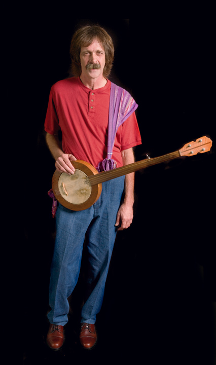 Mary Jane Queen began performing the traditional repertoire of the Appalachian region of southwestern North Carolina after raising a family and becoming a widow. Shown here is her son Henry Queen, 2007, photograph by Alan Govenar