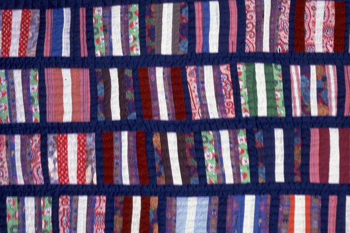String quilt by Hystercine Rankin, 1990, photograph by Patricia Crosby, courtesy Mississippi Cultural Crossroads and National Endowment for the Arts