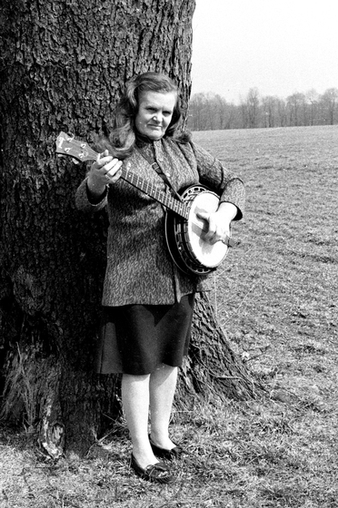 As a member of the North Carolina Ridge Runners, Ola Belle Reed played old-time banjo and sang. Ola Belle Reed, 1974, photograph by Nicholas R. Spitzer