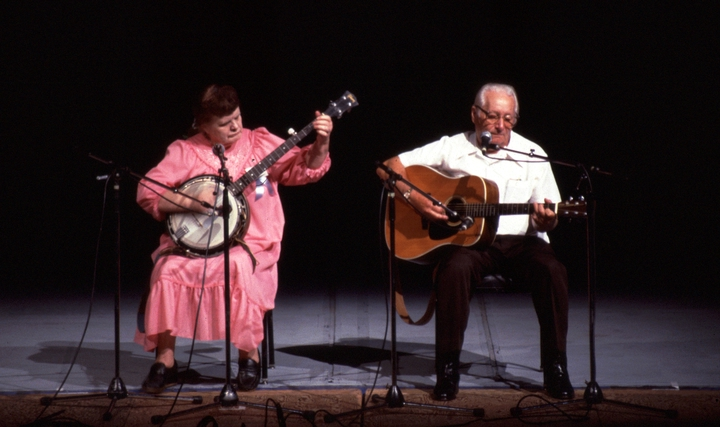 Old Belle Reed and Ralph 'Bud' Reed, 1986 National Heritage Fellowship Concert, courtesy National Endowment for the Arts