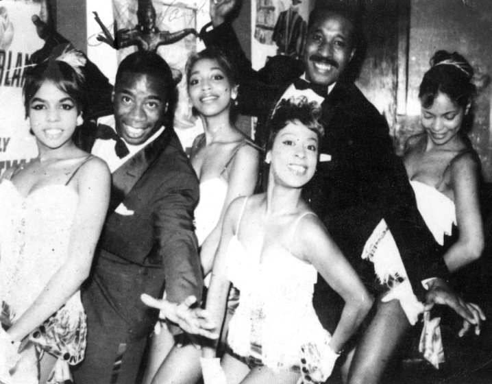 Performing at The Underground (left to right) Mrs. Pinckney Roberts, LaVaughn Robinson, Tootsie, unknown, Henry Meadows, Baby Snooks, Philadelphia, Pennsylvania, ca. 1968, courtesy LaVaughn Robinson
