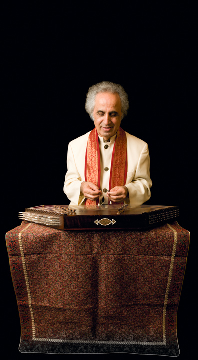 "Manoochehr Sadeghi is a master of the *santur*, the Persian hammered dulcimer. He calls his 1964 move to the United States ""the best thing I ever did"" because it spared him the persecution of members of his Baha'i faith and allowed him to continue sharing his art. 2007, photograph by Alan Govenar"