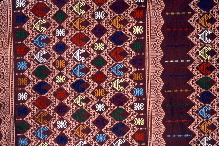 Hand-woven fabric by Vanxay and Mone Saenphimmachak, courtesy National Endowment for the Arts