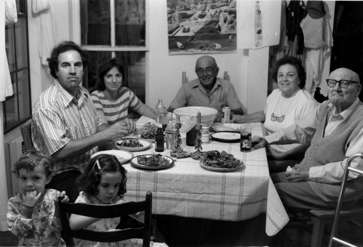 Marc Savoy with his family, Eunice, Louisiana, 1983, photograph by Chris Strachwitz/Arhoolie Records