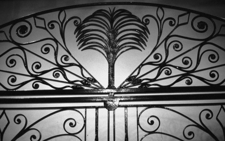 Detail of Philip Simmons gate, South Carolina State Museum, photograph by John Vlach