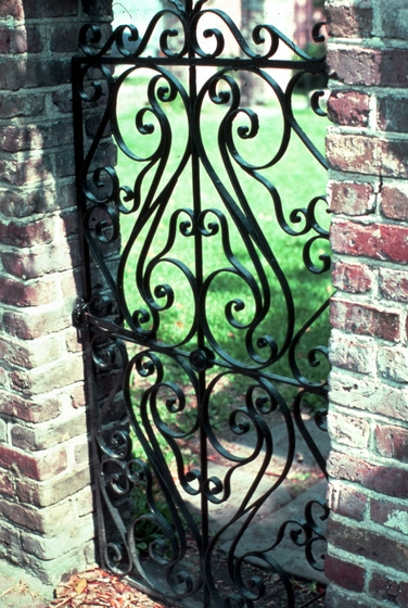 Ironwork by Philip Simmons, 2 Stolls Alley, Charleston, South Carolina, photograph by John Vlach