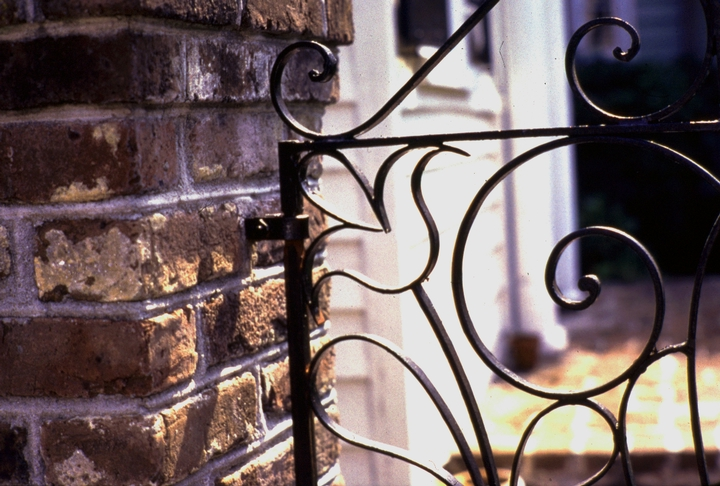 Ironwork by Philip Simmons, 5 Stolls Alley, Charleston, South Carolina, photograph by John Vlach