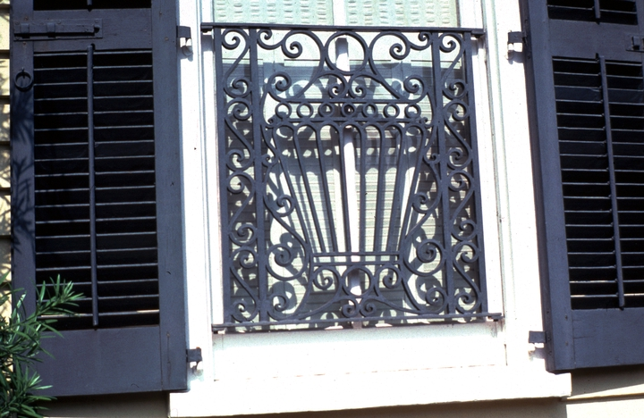 Ironwork by Philip Simmons, 45 Meeting Street, Charleston, South Carolina, photograph by John Vlach