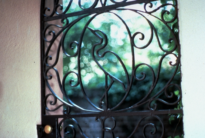 Ironwork by Philip Simmons, 2 St. Michael's Alley, Charleston, South Carolina, photograph by John Vlach