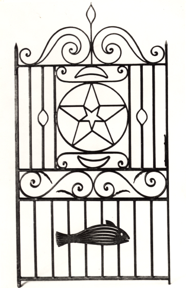 "Philip Simmons ""Star and Fish Gate,"" courtesy Folklife Resource Center, McKissick Museum, University of South Carolina, Columbia, South Carolina"