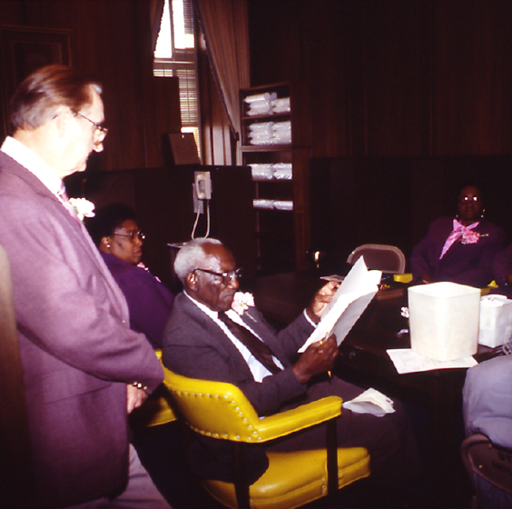 Philip Simmons with other South Carolina Arts Commission Folk Heritage Award winners, 1988. Courtesy Folklife Resource Center, McKissick Museum, University of South Carolina, Columbia, South Carolina