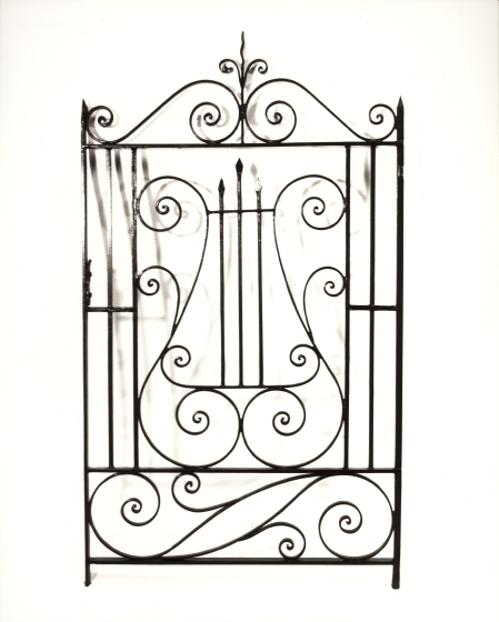 Philip Simmons wrought iron gate, courtesy Folklife Resource Center, McKissick Museum, University of South Carolina, Columbia, South Carolina