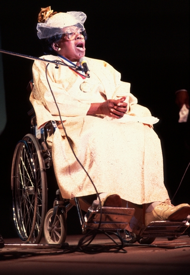 Willie Mae Ford Smith, 1988 National Heritage Fellowship concert, courtesy National Endowment for the arts