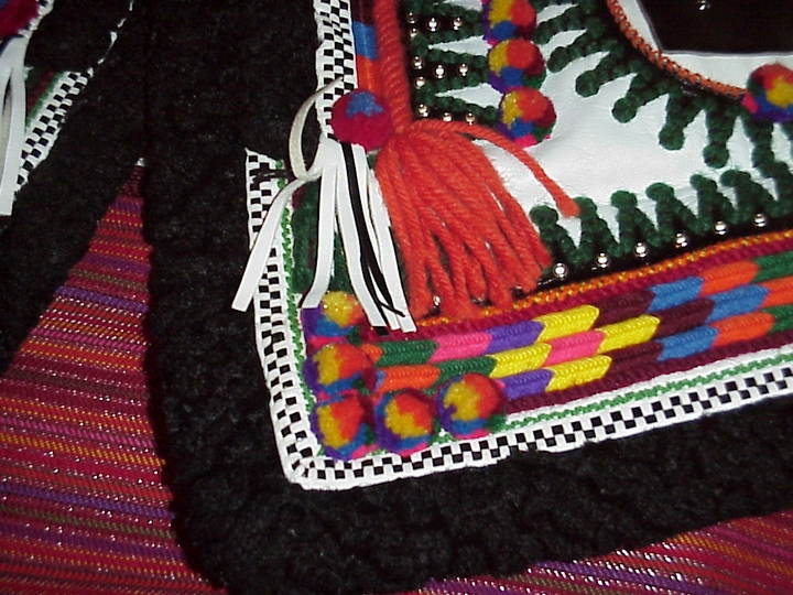 Embroidered jacket (detail) by Eudokia Sorochaniuk, courtesy New Jersey State Council on the Arts
