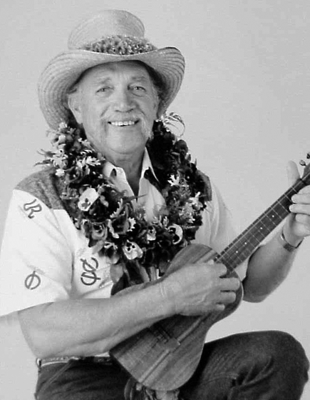 "Clyde 'Kindy' Sproat, a Native Hawaiian cowboy singer and ukulele player, loved the old Hawaiian songs he learned as a child, ""so I hang onto them and sing them just as I heard them sung."" Courtesy National Endowment for the Arts"